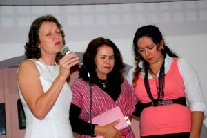 Maya, Dinora e Ariane.